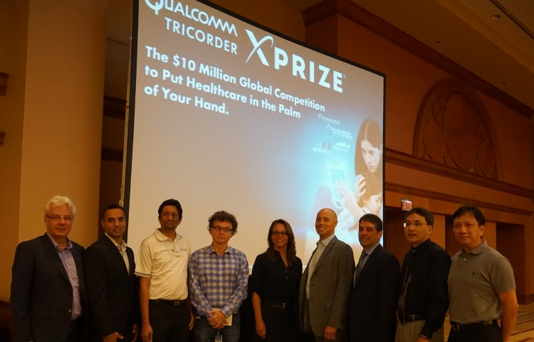 The Qualcomm Tricorder XPRIZE announced its ten finalist teams at EMBC'14 (36th Annual International Conference of the IEEE Engineering in Medicine and Biology Society)